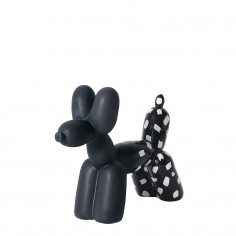 Big Top Ceramic Balloon Dog Bookend – Black & White