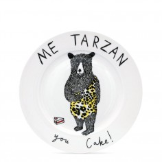 """Me Tarzan, You Cake"" Side Plate"