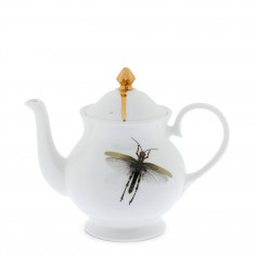 Dragonfly and Gold Teapot