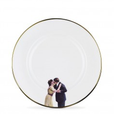 Kissing Couple Bone China Plate - Dinner Plate