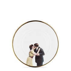Kissing Couple Bone China Plate - Salad Plate