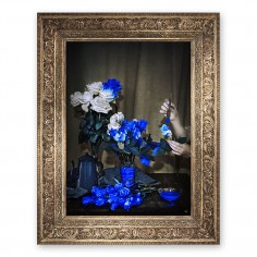'Scent of Cobalt' Ornate Framed Canvas Print