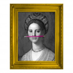 'The Pink Pencil' Framed Canvas Print