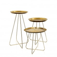 Casablanca Table (Gold Tray with Brass Based Legs)