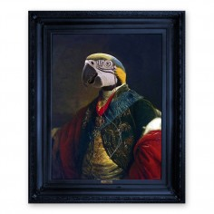 'Cousin Parker' Ornate Framed Canvas Print
