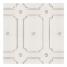 Cream Georgian Dot Panelling Wallpaper