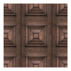 Dark Oak Victorian Panelling Wallpaper