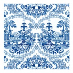 Delft Baroque Wallpaper - Blue