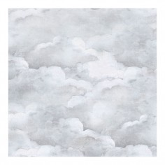 Dusty Clouds Wallpaper Pale Grey