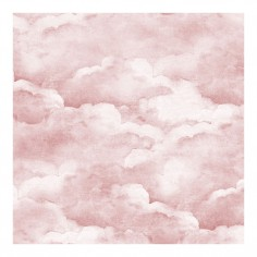 Dusty Clouds Wallpaper Pink