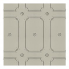 Georgian Dot Panelling Wallpaper French Grey