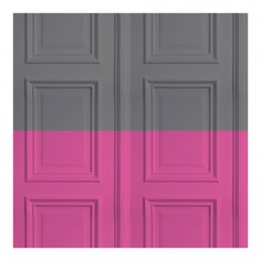 Panelling Wallpaper Grey/Rose