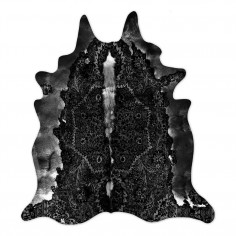 Persian Cowhide Rug Black