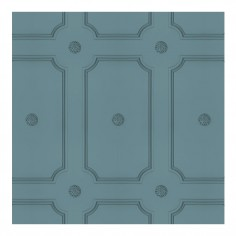 Slate Blue Georgian Dot Panelling Wallpaper