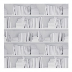 Bookshelf Wallpaper White