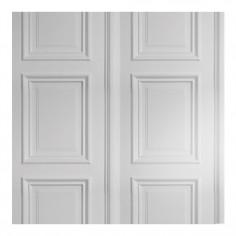 White Panelling Wallpaper