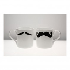 Moustache Classic Mug - Maurice Poirot Black