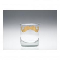 Moustache Poirot Tumbler Gold