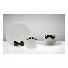 Moustache Espresso Cup & Saucer Maurice Poirot