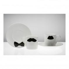 Moustache Espresso Cup & Saucer Mustafa Chaplin
