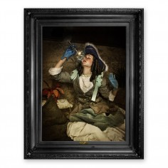 'Air is not enough...' Ornate Framed Canvas Print