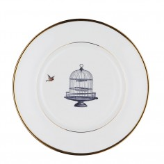 Birdcage and Bird Bone China Plate - Dinner plate