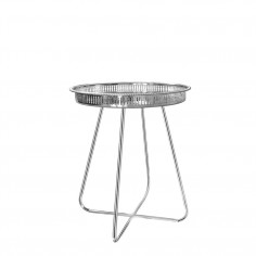 Casablanca Table SMALL (Silver Tray with Chrome Legs)