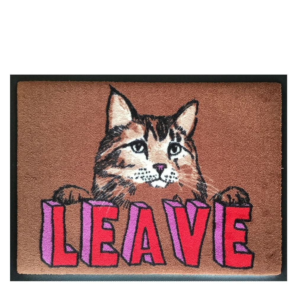 'Leave Cat' Welcome Door Mat