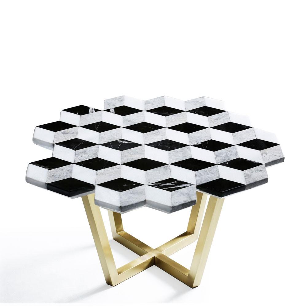 Diplopia Monochrome Table