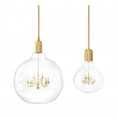 King Edison Grande Pendant Lamp - Gold