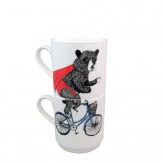 Mix & Match Stacking Cup - Bicycle Bottom