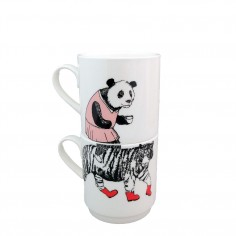 Mix & Match Stacking Cup - Miss Panda Top