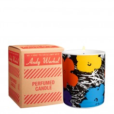 Andy Warhol Flowers Scented Candle - Purple