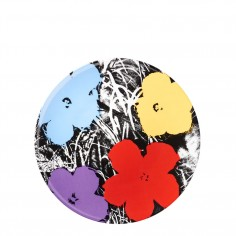 Andy Warhol Flowers Plate - Purple