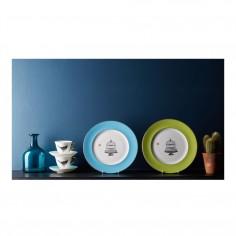 Birdcage Green Dinner Plate