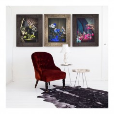 'Scent of Cobalt' Ornate Framed Canvas Print (S)