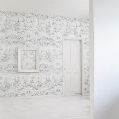 Almost White Delft Baroque Wallpaper
