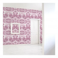 Delft Baroque Wallpaper - Pink