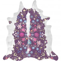 Gypsy Cowhide Rug - Purple