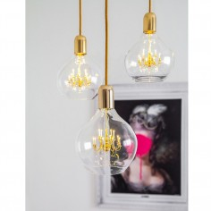 King Edison Trio Pendant Lamp - Gold