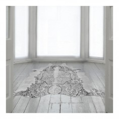 Persian Cowhide Rug Grey