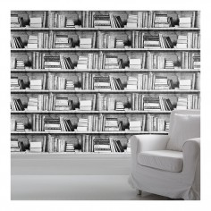 Bookshelf Wallpaper Photocopy
