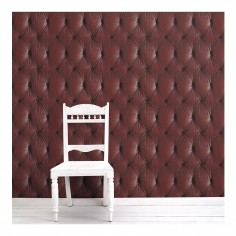 Chesterfield Button Back Wallpaper Red