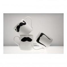 Moustache Classic Mug - Mustafa Chaplin Black