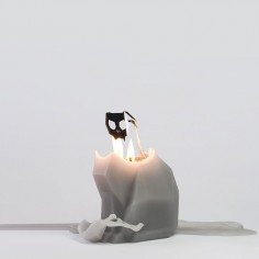 PyroPet KISA Candle - Grey