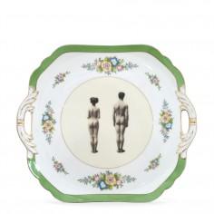Upcycled Vintage Models Design Cake Plate