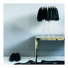 Feather Table Lamp - Black