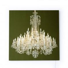 Grand Chandelier Glo-Canvas Green