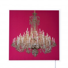 Grand Chandelier Glo-Canvas Pink