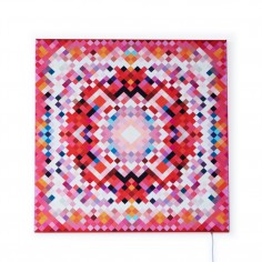 Glo-Canvas Pixel Tapestry Red 65x65cm